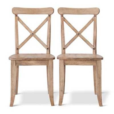 French Country X-Back Dining Chair (Set of 2) - Acorn - Target