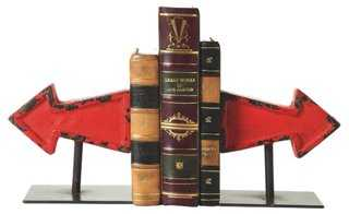 Pair of Arrow Bookends - One Kings Lane