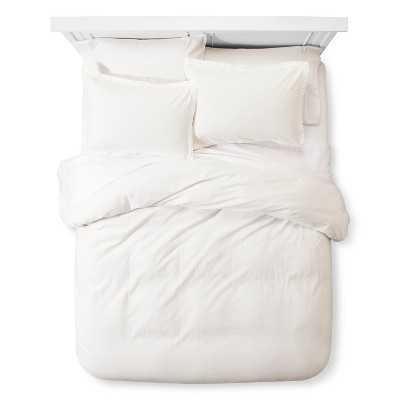 Linen Blend Duvet Set, Full/Queen, White - Target
