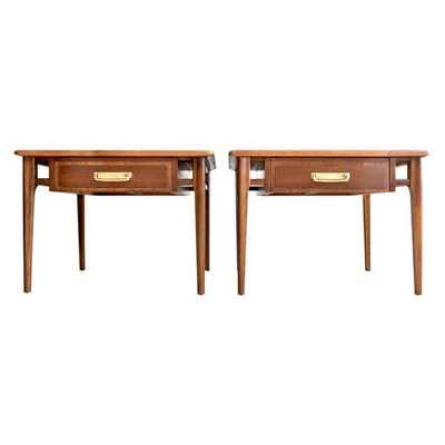 Lane Mid-Century Walnut End Tables - A Pair - Chairish