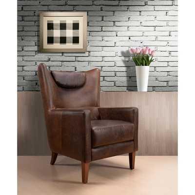 Weinstein Vintage Brown Leather Chair - Overstock