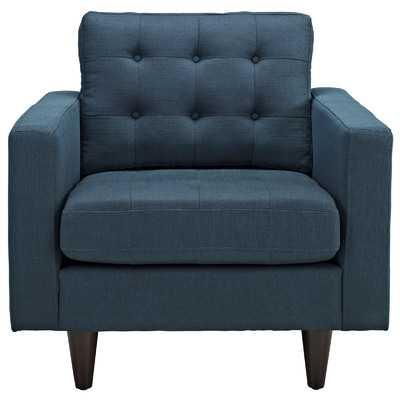 Empress Arm Chair - Azure - Wayfair
