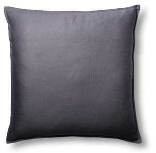 Tailored 22x22 Linen Pillow, Indigo - One Kings Lane