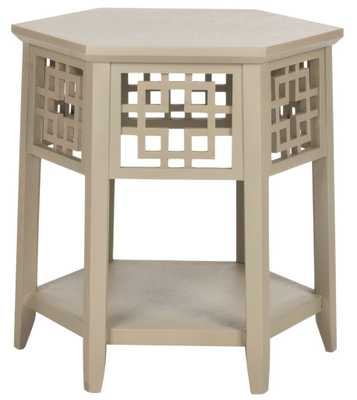 Zelda End Table, Pearl Taupe - Tressle