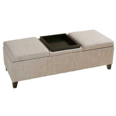 Henderson Upholstered Fabric Storage Ottoman - Wayfair