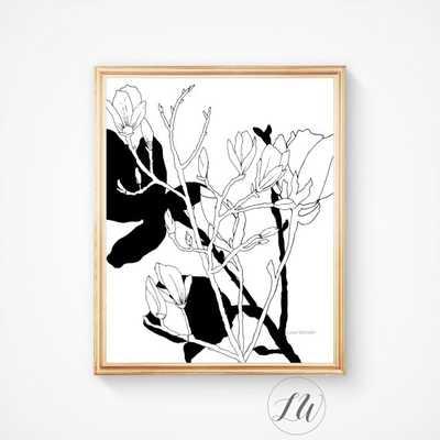 Floral printable art work Orchid art - Unframed - Etsy