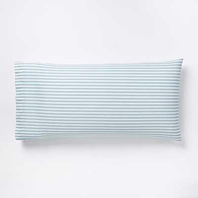 Organic Mod Stripe King Pillowcases - Light Pool - Set of 2 - West Elm