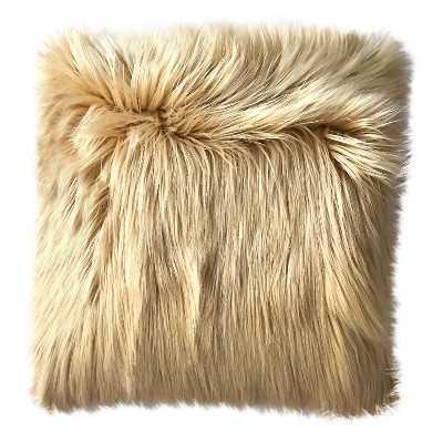 Long Haired Caramel Fur Pillow - Target