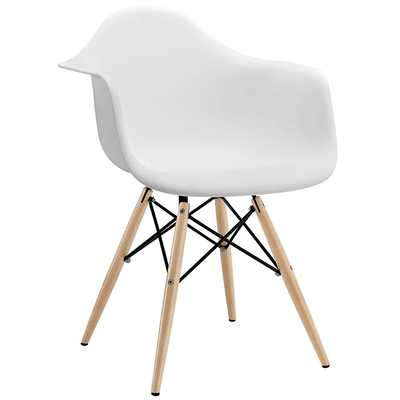 PYRAMID DINING ARMCHAIR IN WHITE - Modway Furniture