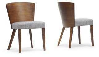 Monica Modern Side Chairs, Pair - One Kings Lane