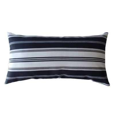 "Down the Lane Indoor/Outdoor Lumbar Pillow-12""x22""-With INsert - Wayfair"