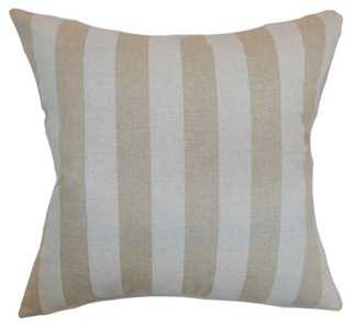 """Ilaam Stripes Cotton Pillow, Natural - 20"""" x 20"""" - Feather/Down Insert - One Kings Lane"""