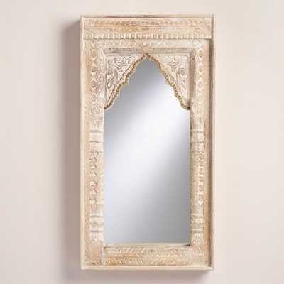 Oversized Ivory Carved Wood Mirror - World Market/Cost Plus