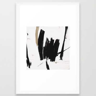 "UNTITLED #17 - FRAMED ART PRINT/SCOOP WHITE (26"" X 38"") - Society6"