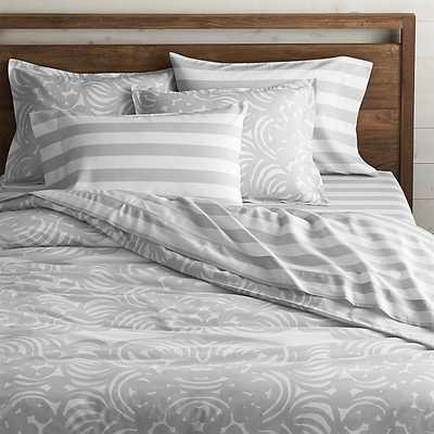 Marimekko Mandariini King Duvet Cover - Crate and Barrel
