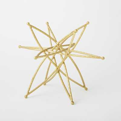 Star Sculpture, Large, Gold - West Elm