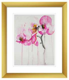 "Karin Johannesson, Orchid Study IX- 11"" x 13""- Gold frame - One Kings Lane"