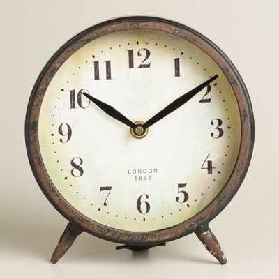 Small Black Charlie Clock - World Market/Cost Plus