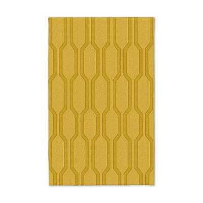 Honeycomb Textured Wool Rug - Horizon - 5' x 8' - West Elm