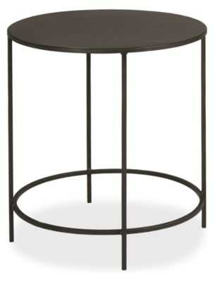 Slim Round End Tables in Natural Steel - Room & Board