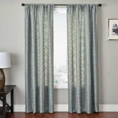 "Basso Curtain Panel in Antique Blue - 120""L x 54""W - Wayfair"