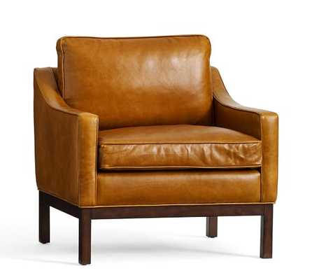 Dale Leather Armchair - Heritage Caramel - Pottery Barn