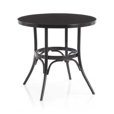 Vienna Black Round Bistro Table - Crate and Barrel