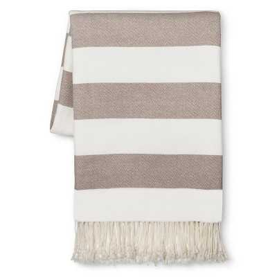 Stripe Throw Blanket - Wet Stone Gray - Target