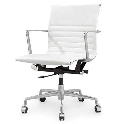 Leather Mid-Back Executive Office Chairby Meelano - Wayfair