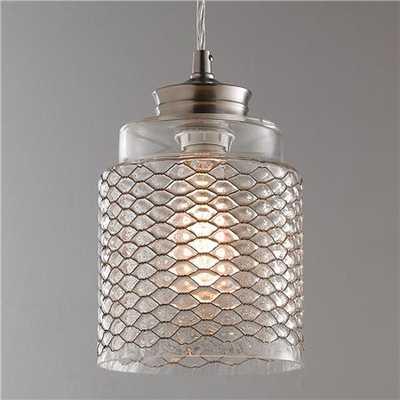Metal Honeycomb Glass Pendant - shadesoflight.com