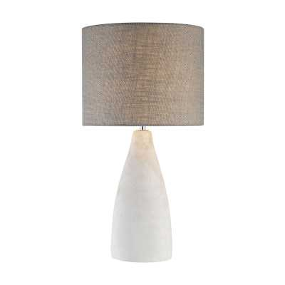 Rockport 1 Light Table Lamp In Polished Concrete - Rosen Studio