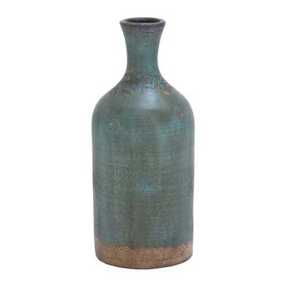 Rustic Distressed Terracotta Flower Vase - Overstock