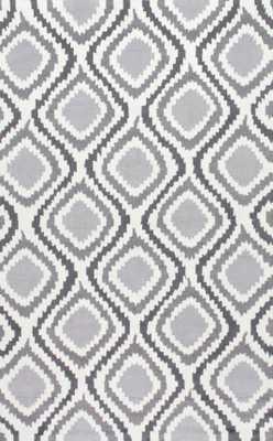 """Hand Hooked Matthieu area rug - Grey; 7' 6"""" x 9' 6"""" - Loom 23"""