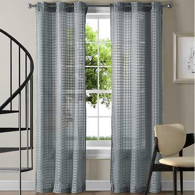Jacob Curtain Panel - Blue - AllModern