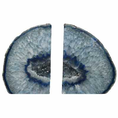 Agate Blue Bookends - High Fashion Home