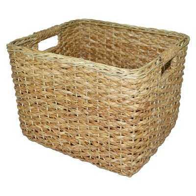 Seagrass Rectangular Wicker Basket - Large - Target