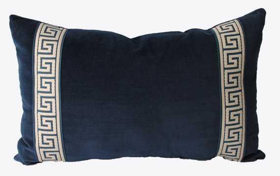 Decorative Greek Key Chinoiserie Pillow - 12x18, No Insert - Etsy
