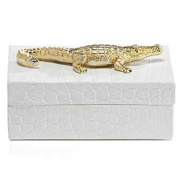 Embossed Crocodile Box - Z Gallerie