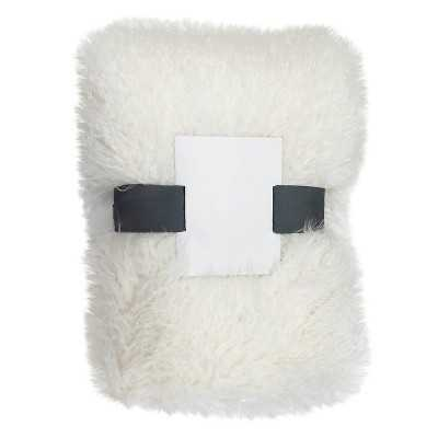 "Thresholdâ""¢ White Faux Mongolia Sheepskin Throw - Target"