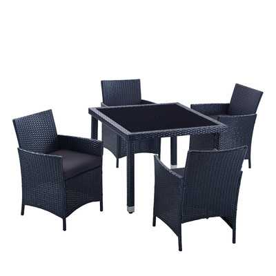 Mercer 5 Piece Outdoor Dining Set with Cushions - Wayfair