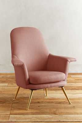 Linen Kimball Chair - Petal - Anthropologie