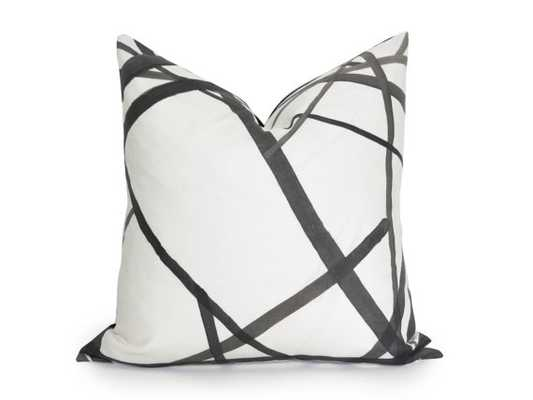 "Channels Pillow Cover, Black and Off-White - 20"" x 20"" - Insert Sold Separately - Willa Skye"