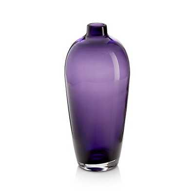 Ashby Medium Amethyst Purple Glass Vase - Crate and Barrel
