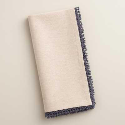 Chambray Crochet Napkins Set of 4 - World Market/Cost Plus
