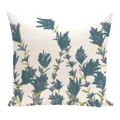 "Botanical Blooms Lavender Floral Outdoor Throw Pillow - 18"" x 18"" - insert - AllModern"