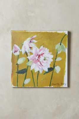 """Garden Walk Wall Art - Saffron, 18"""" sq. - Unframed - Anthropologie"""