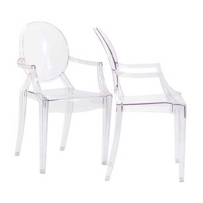 Casper Dining Armchairs Set of 2 in Clear - House Bound