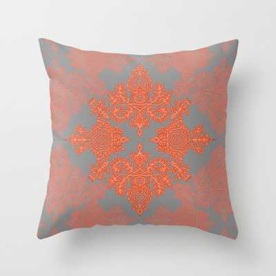 """Doodle Pattern Indoor Pillow - 16"""" x 16"""" - Insert Sold Separately - Society6"""