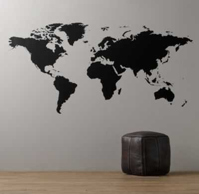 "World map chalkboard decal - 8"" - RH Baby & Child"