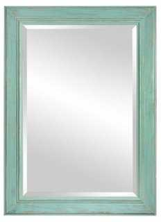 Wooden Mirror, Spring Blue - One Kings Lane